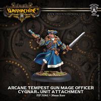 Warmachine: Cygnar Arcane Tempest Gun Mage Officer Unit Attachment PIP 31061 NEW