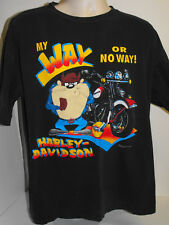 TAZ Harley Davidson T shirt MY WAY OR NO WAY Warner Bros. 1993 Vintage XL