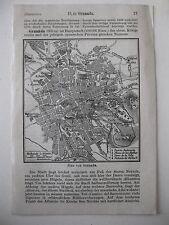 stampa antica OLD PRINT MAP MAPPA SPAGNA SPAIN GRANADA 1930