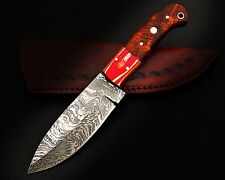 HUNTING STAG USA FORGED DAMASCUS-STEEL-WOOD SKINNER KNIFE