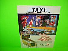 Williams TAXI Original 1988 NOS Flipper Game Pinball Machine Promo Sales Flyer