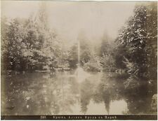 Aloupka Алупка Etang du parc Yalta Crimée Russie Россия Vintage albumine ca 1880