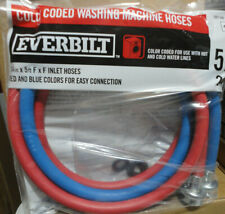 5 ft. Red and Blue Fill Hose by Everbilt Washing Machine inlet Hose 3/4in x 5 ft