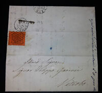 ANTICHI STATI Stato Pontificio lettera da Gallese a Viterbo con 10 cent 1868
