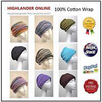Nepal 100% Cotton Chemo wrap Headband Hijab Neck Warmer Loopy Scarf Hair Band1
