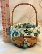 Longaberger~2002~Lucky You~Basket, Charm, Liner, Protector~Collectible