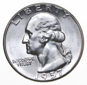 Unc BU MS 1957 - US Washington 90% Silver Quarter Coin Set Break *246