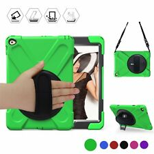 Apple iPad Air 2 Case Shockproof Kickstand Hand Shoulder Strap Full Cover Green