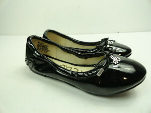 Sam Edelman Girls Felicia Black Patent Flats Ballet Size 1