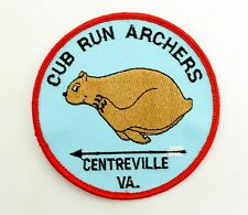 Cub Run Archers Centreville VA Souvenir Sew On Patch Applique