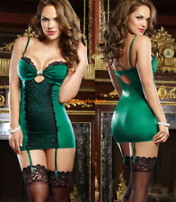 Sexy Lace Sling Hollow Drape Babydolls Sleeveless Erotic Dress Bodycon Lingeries