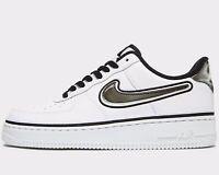 🔥 Nike Air Force 1 Low '07 LV8 NBA SPORT ® (Men UK Sizes: 8 - 14 ) White Grey