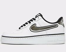 Nike Air Force 1 07 LV8 Mens White Blue Grey Red Shoe Trainer Sport UK 7-13