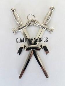 masonic regalia-MASONIC JEWELS-CRAFT SWORD BEARER  COLLAR JEWEL (SILVER TONE)