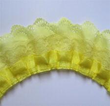 1 yard 3-layer Pleated Organza Lace Edge Trim Gathered Mesh Chiffon Ribbon DIY