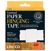 Archival Gummed Paper Hinging Tape 1Inx130Ft