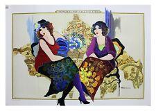 Patricia Govezensky- The Madaba Map Original Acrylic Painting on Map   COA