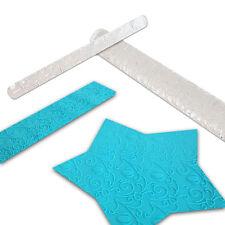 Rodillo De Acrílico patrón de textura en relieve fondant pastel Sugarcraft Glaseado