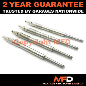 4x For Audi Mitsubishi Seat Skoda VW 2.0 TDI  Diesel Heater Glow Plugs Dual Core
