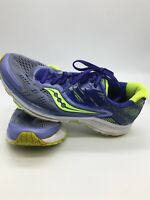 Saucony Ride 10 Women's Athletic Running Shoes Purple Yellow S10373-1 Size 7