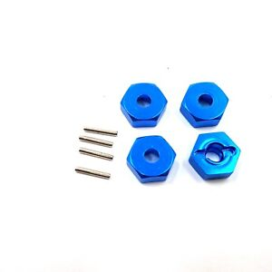 12mm Aluminium Wheel Hex Kit (X4) for FTX Alloy Blue RC Carnage, Outlaw, Vantage