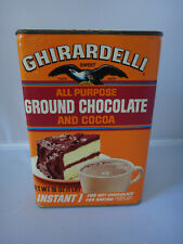 Vintage 1980 GHIRARDELLI Ground Chocolate and Cocoa Tin Can - NEW & SEALED