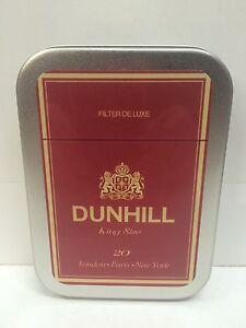 Dunhill De Luxe Retro Advertising Brand Cigarette Tobacco Storage 2oz Hinged Tin