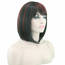 Heat Resistant Front Ombre Synthetic Short Wigs Straight Bob Hair Cosplay E0062