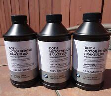 3X NEW BMW DOT4 Brake Fluid - 355mL 12FL OZ  81220142156 lot of 3 bottles
