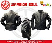 NEW MOTORCYCLE MOTORBIKE BLACK COWHIDE GENUINE LEATHER CE ARMOURS LINED JACKETS