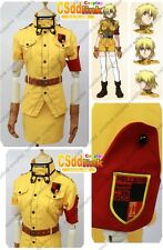 Hellsing Ultimate Seras Victoria Cosplay Costume yellow uniform with socks
