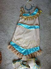 DISNEY STORE Pocahontas Indian Princess Costume Dress SIZE 9-10 W// ACCESSORIES