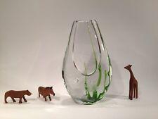 Kosta seaweed art glass vase by Vicke Lindstrand, Mid Century Modern, fish motif