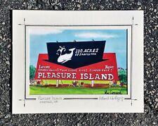 Pleasure Island Amusement Park print Wakefield Midway Carnival Ride Whale gift