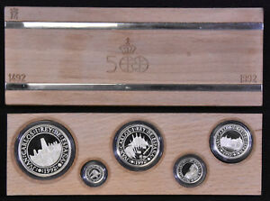 1492-1992 Spain Discovery of America Silver Proof Set