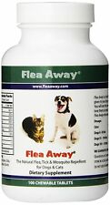 Flea Away Pills All Natural Flea Repellent For Dogs Cats 100 Chewable Tablets