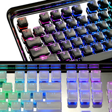 NEW ABS Transparent Crystal Keycaps RGB for US ANSI Layout Mechanical Keyboard