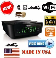 1080P HD Spy WiFi Hidden Spy Camera Alarm Clock Radio DVR HIGH DEFINITION SPY