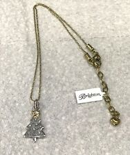 Brighton Twinkle Tree Necklace-silver Christmas tree pendant gold tone chain