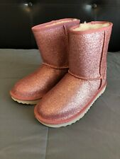 Pink Glitter Girl's Uggs - Size 4