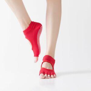 Toeless Non Slip Grip Women Socks for Yoga Barre Pilates