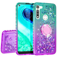 For Moto G Fast Case Hybrid Liquid Glitter Diamond Bling Phone Cover