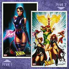 "XMEN PRINT SET (11"" x 17"") Both are Signed by J. Scott Campbell NM MARVEL !!!"