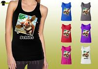 Funny Cow Selfie Shirts Face Graphic Selfies Ladies Tank Top (21049hd4)