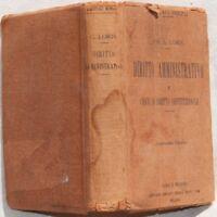 LORIS DIRITTO AMMINISTRATIVO COSTITUZIONALE LEGGI 1921 FORZE ARMATE BUON COSTUME