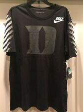 Nike Duke Blue Devils Black Golf Performance Shirt XL 872900-010 NWT