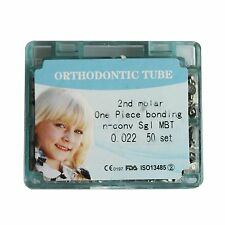 Dental Orthodontic Second Molar Tubes Buccal Bonding One Piece MBT 022 50 sets