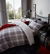 Aberdeen tartan plaid gris 100% coton brossé réversible