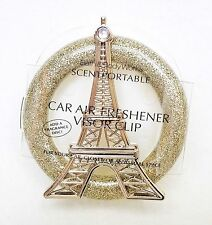 Bath & Body Works EIFFEL TOWER Scentportable Holder Vent Clip GOLDEN GLITTER
