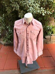 H Bar C California Ranchwear Vintage Men's shirt size 15 1/2-34